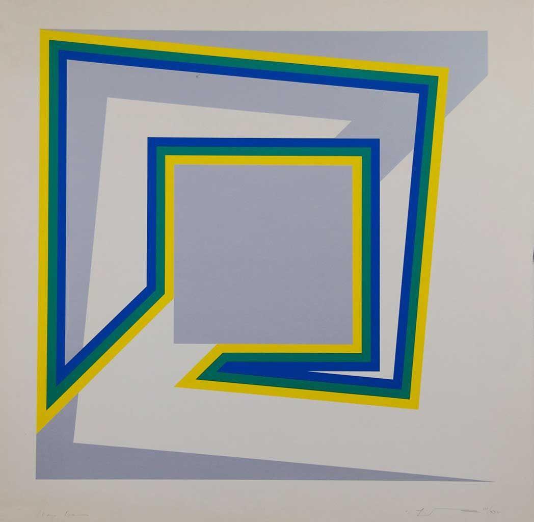 Centrale compositie Dit zie je aan de rechte lijnen die in dit werk zijn gebruikt.