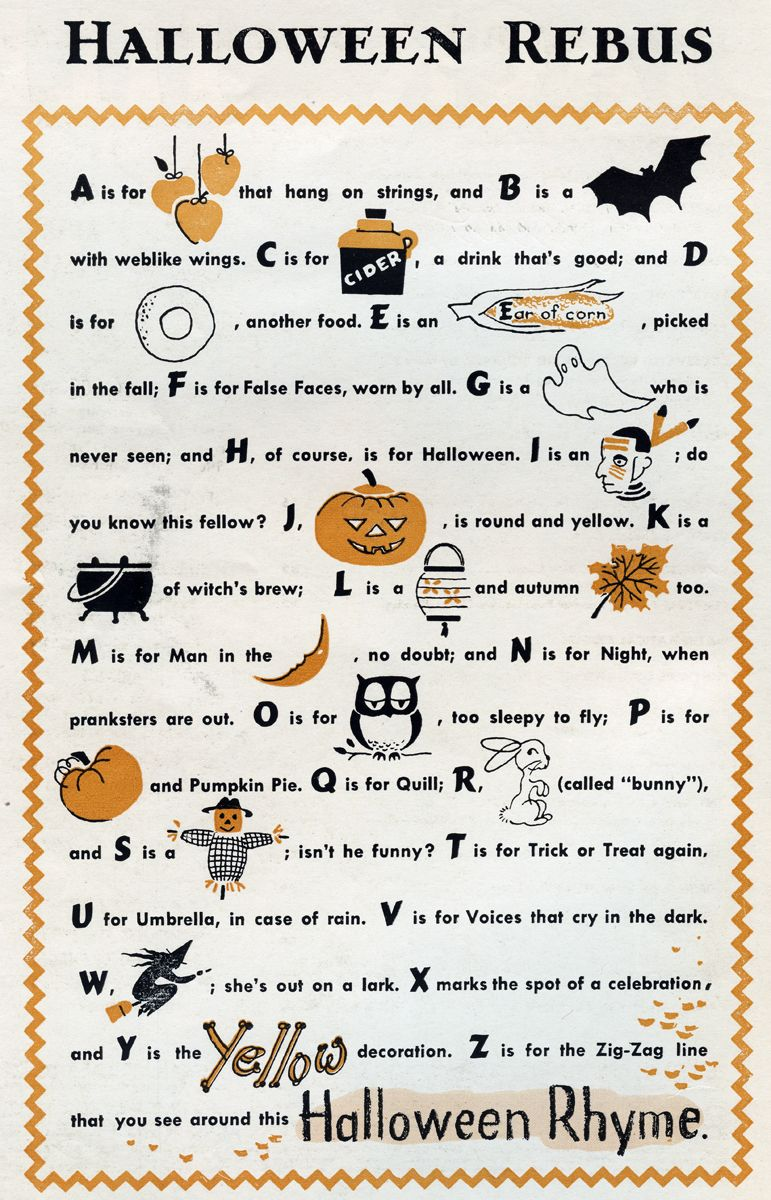 halloween rebus Halloween poems, Halloween poems for