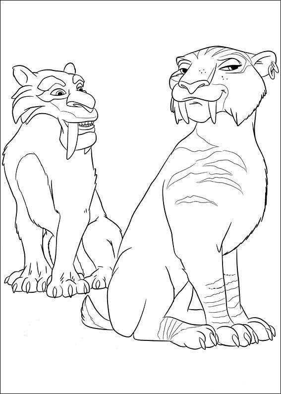 Ice Age Målarbilder för barn. Teckningar online till skriv ut. Nº 13 ...
