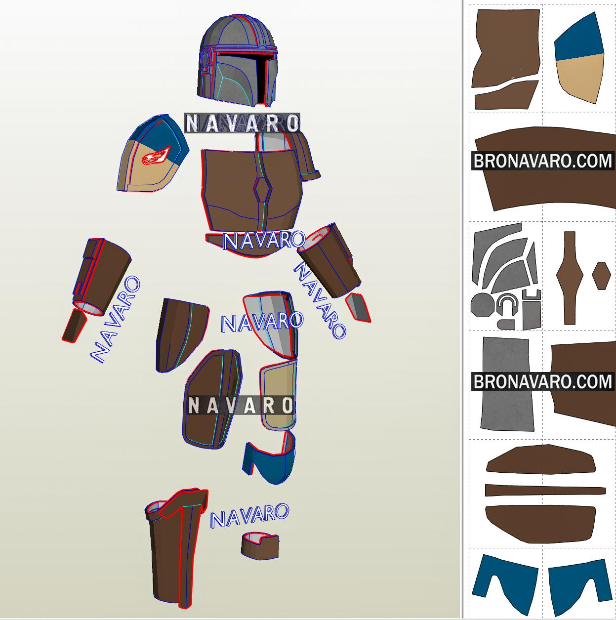 guia. Mandalorian cape starwars cosplay pattern PDF guide  Capa Mandaloriano Star Wars patr\u00f3n PDF
