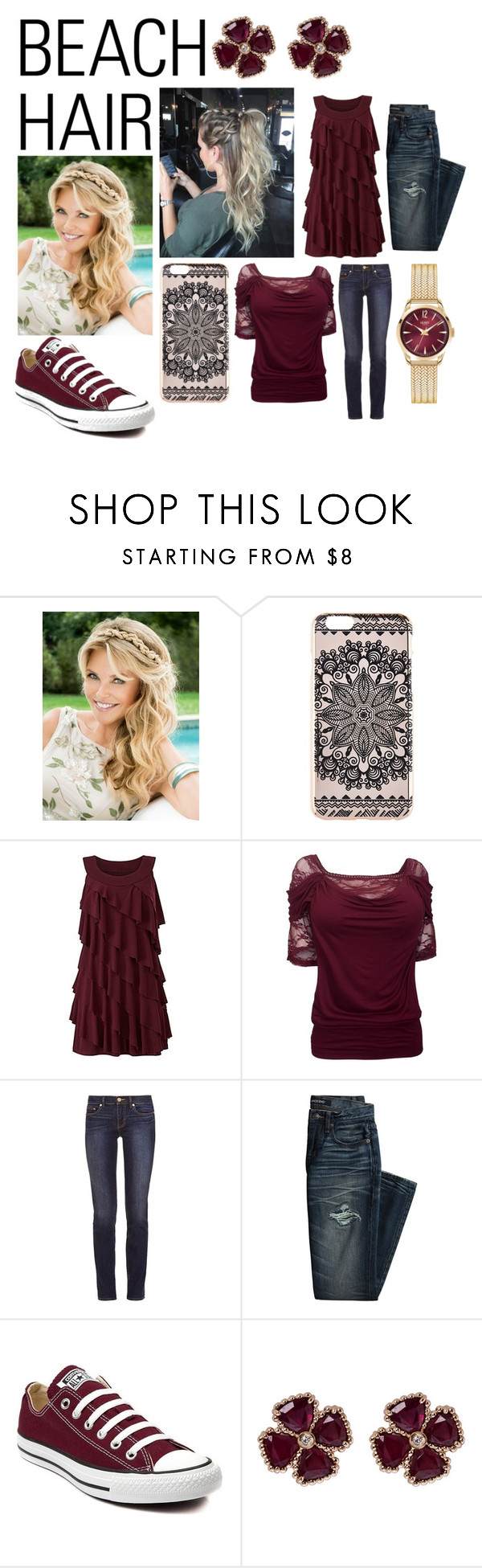 """Style Hair"" by carmen-41-navarro on Polyvore featuring beauty, New Look, Tory Burch, Canvas by Lands' End, Converse, Carla Amorim, Henry London and beachhair"