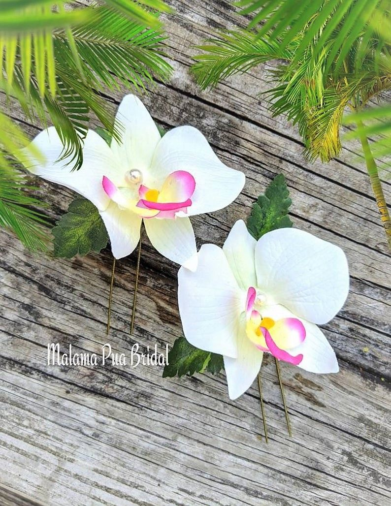 Crystal Bridal Hair Piece Gardenia Wedding Head piece White Tropical  Flower Hair Pin Gold Floral Pearl Hair comb Bride Real Touch Flower