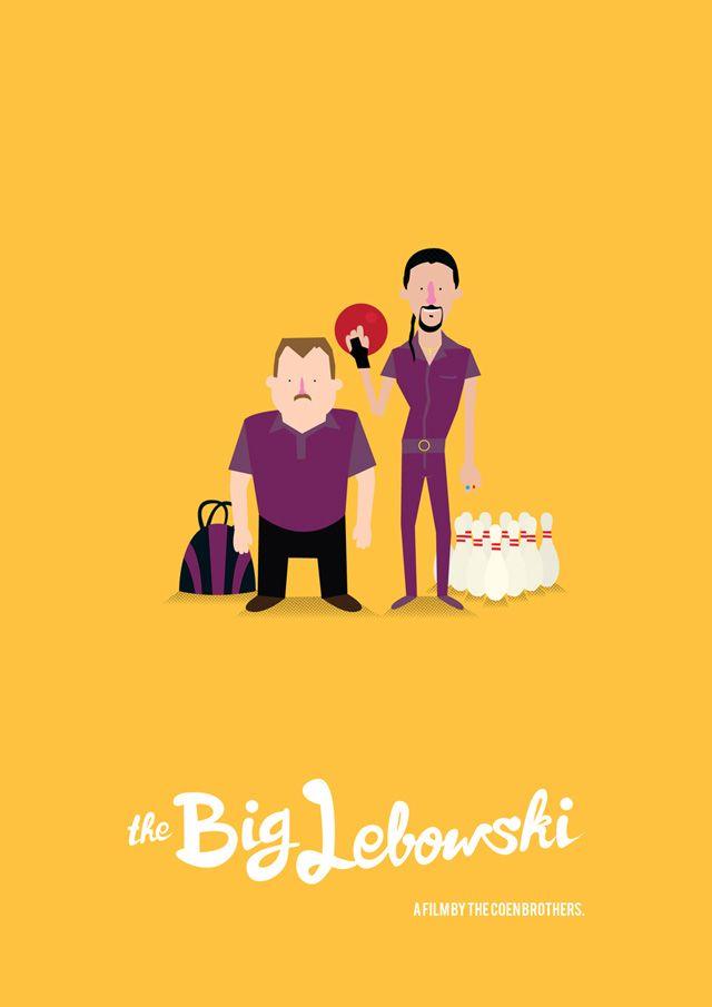 Re Imagined Movie Posters By Illustrator Olaf Cuadras Ferre The Big Lebowski Movie The Big Lebowski Movie Posters