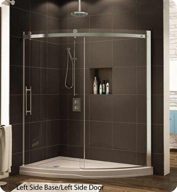 Fleurco Novsl66 Novara Slice Curved Glass Door And Panel Shower Doors Glass Shower Glass Shower Doors