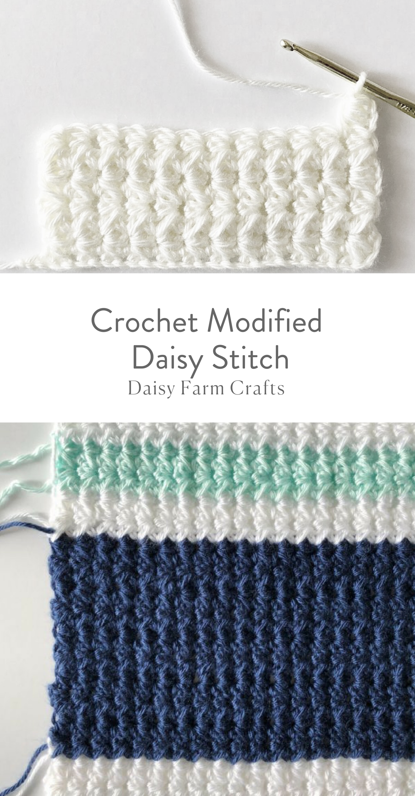 How to Crochet the Modified Daisy Stitch | Knit/Crochet Stitches ...