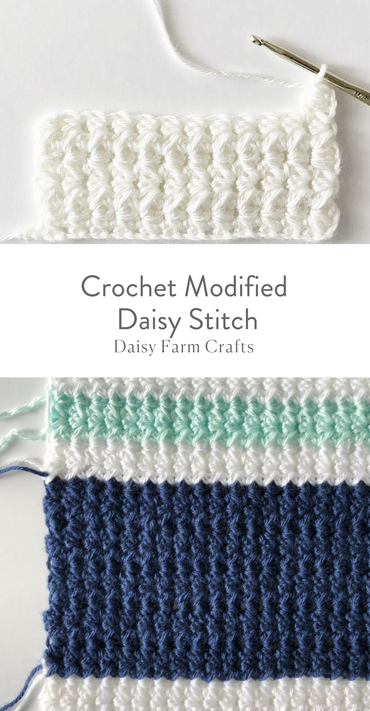 How to Crochet the Modified Daisy Stitch | Patrones de ganchillo ...