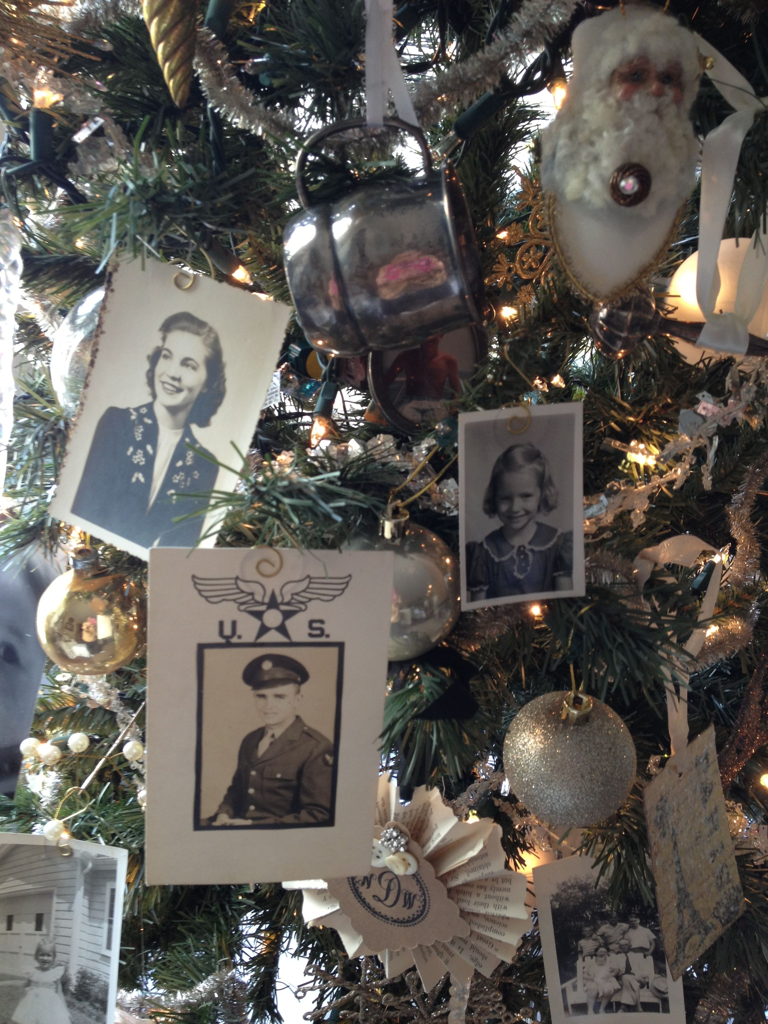 Memory Christmas Tree Lots Of Old Black And White Family Photos