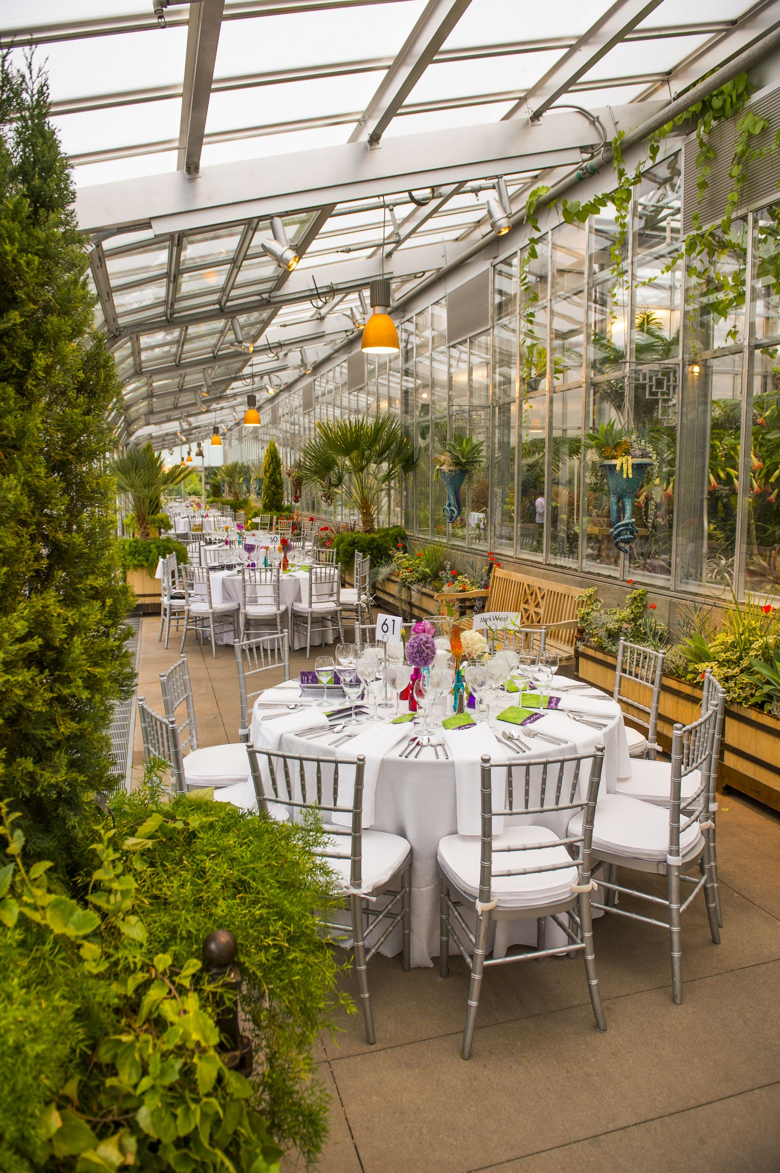 Have a stunning party in the orangery at denver botanic for Small private wedding venues