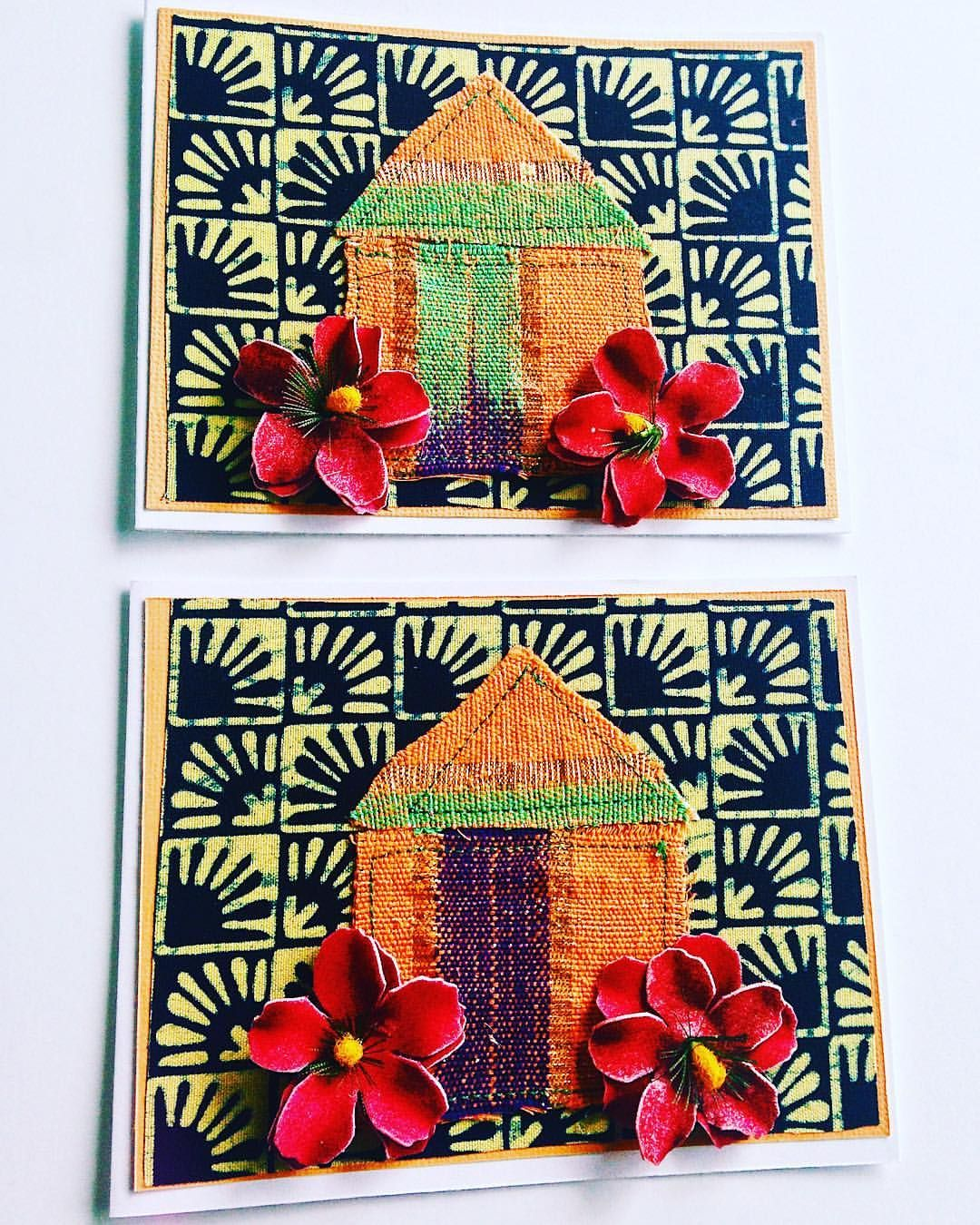 African Housewarming Card African Fabric Cards Ankara Greeting