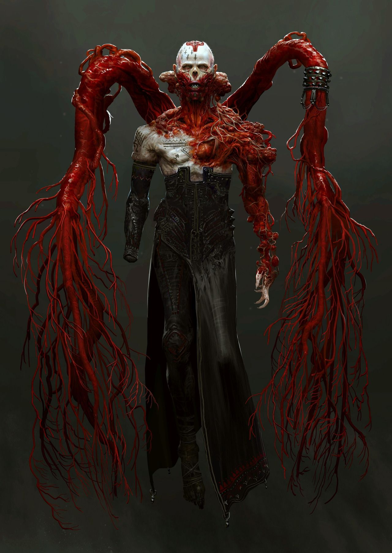 Character Design Zombie : Avidus horror character concept by chenthooran
