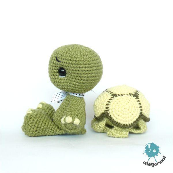 Schildkröte mit Panzer zum Ausziehen... | А Схемы амигуруми ...