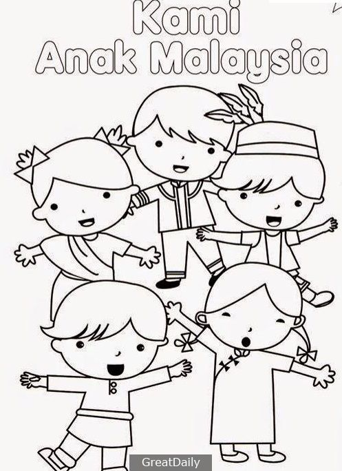collection of colouring poster for bulan kemerdekaan colouringcoloring pages