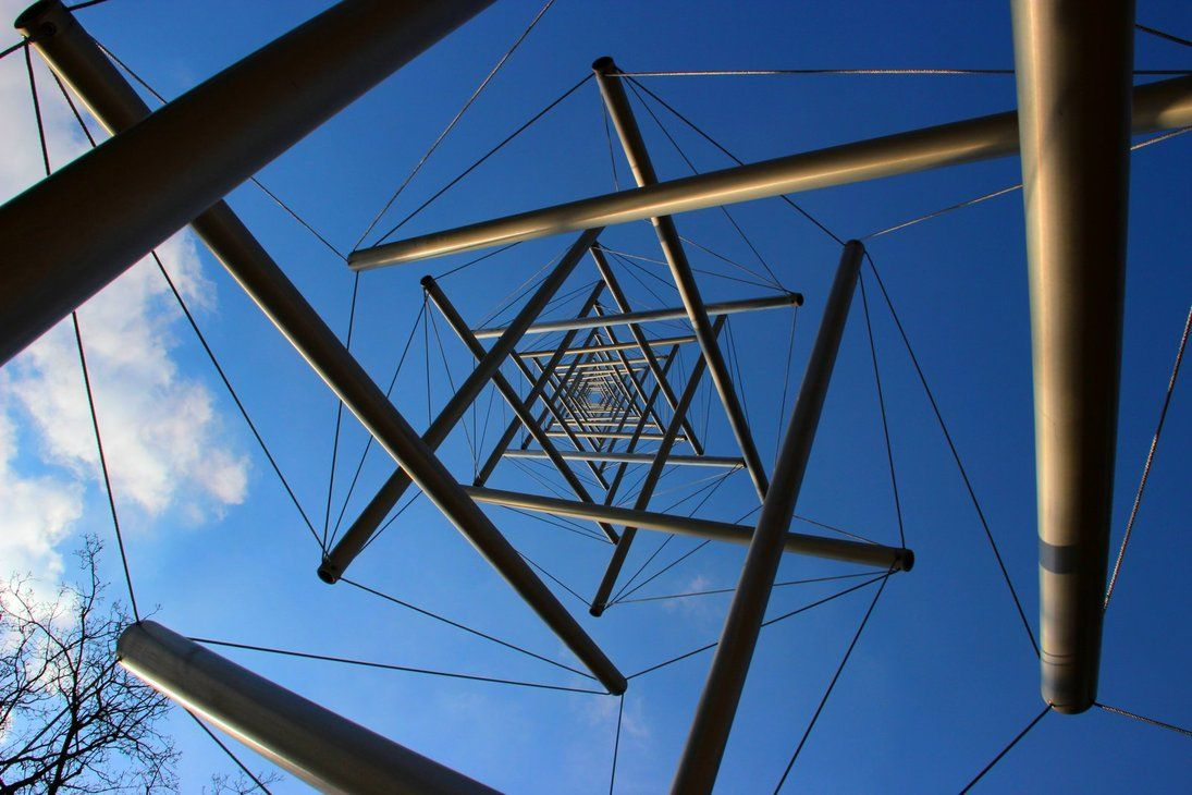 "Kenneth Snelson's Needle Tower. Statue Park at Museum Kröller-Müller, National Park ""De Hoge Veluwe"", Otterlo, Netherlands. ~ photo by *djo-123 on deviantart"