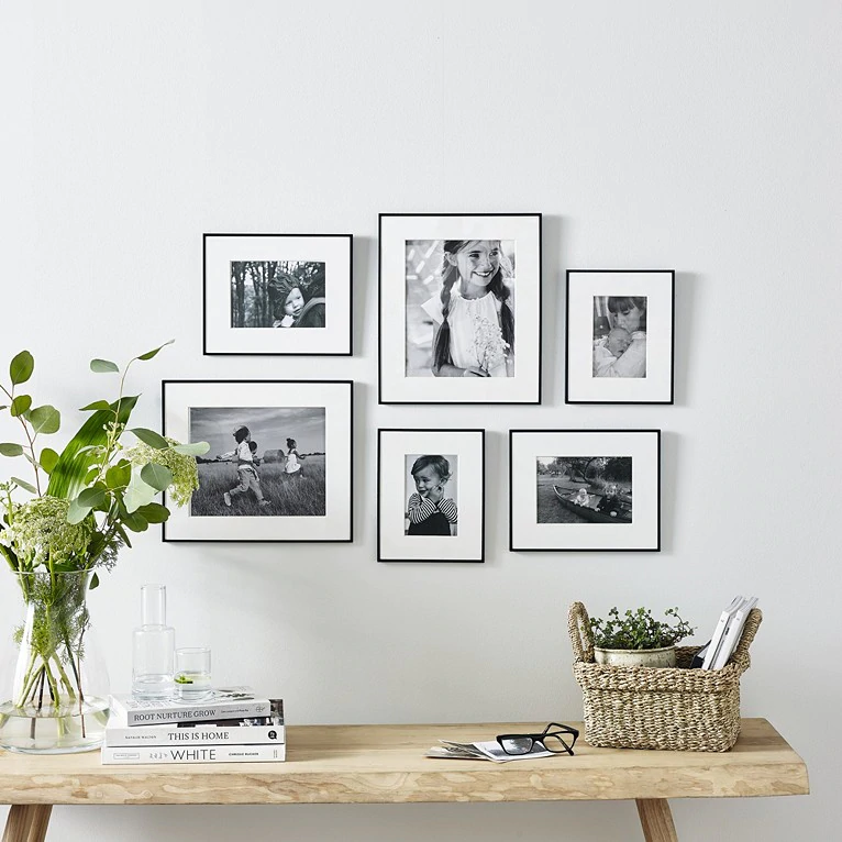Fine Black Small Picture Gallery Wall Set | Picture Frames | The White Company