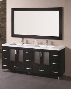 72 Inch Double Sink Bathroom Vanity In Espresso Uvdeb72ds72