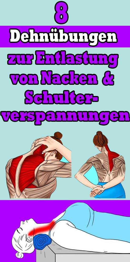 8 stretching exercises to relieve neck and shoulder tension   - Gesundheit und fitness -   #exercise...