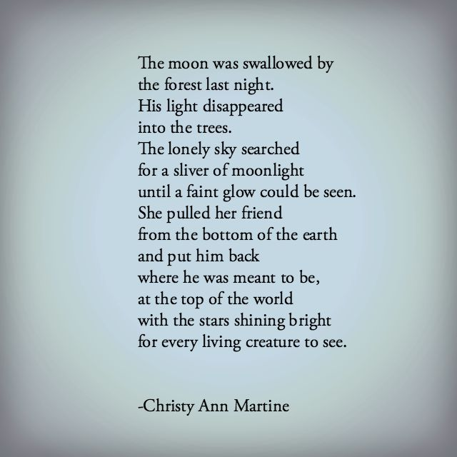 Saving The Moon By Christy Ann Martine Poetry Poems Poets