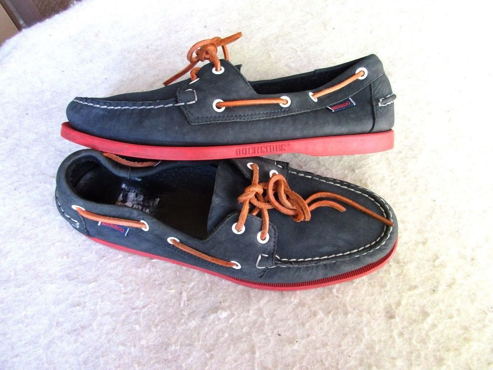 bc8c15b8a7865 Sebago Docksides men shoes 10 M Boat navy Blue #Sebago #BoatShoes ...