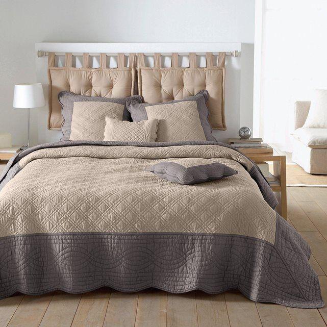 boutis matelass bicolore lit pinterest lit couvre lit et matelas. Black Bedroom Furniture Sets. Home Design Ideas