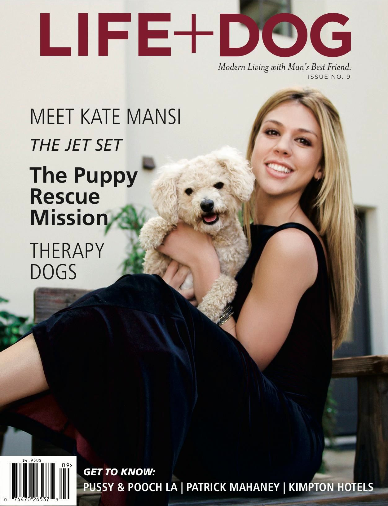 I heart Kate Mansi! Dog magazine, Therapy dogs, Dog cover