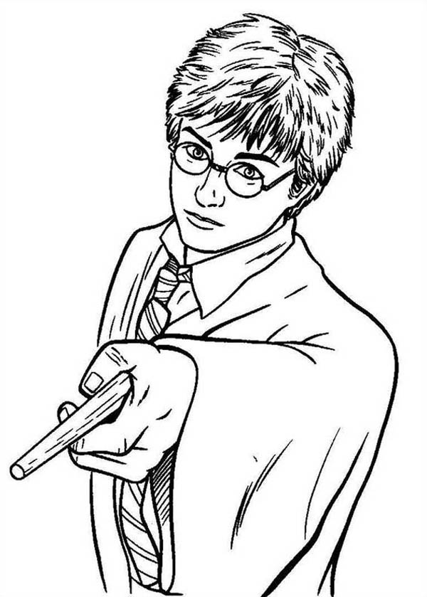 Print Harry Potter Hermione Granger Holding Wand Coloring Pages Harry Potter Coloring Pages Harry Potter Cartoon Harry Potter Colors