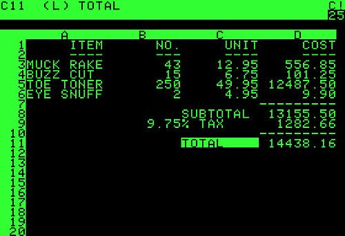 VisiCalc was a pioneering electronic spreadsheet and a progenitor of - Spreadsheet Programs