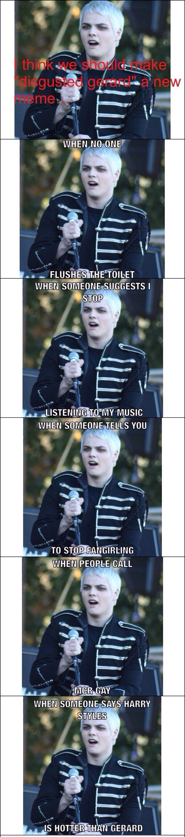 My Chemical Romance Xd Harry Styles Will Never Be A Hot As Gerard
