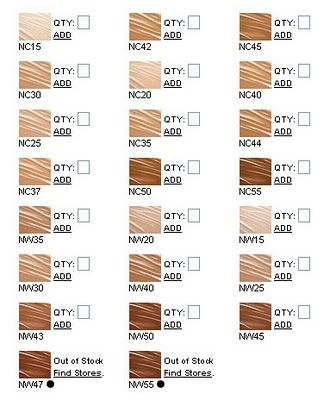 A Guide To Mac Foundation Colors C Nc N Nw W Mac Foundation Colors Mac Foundation Shades Mac Foundation