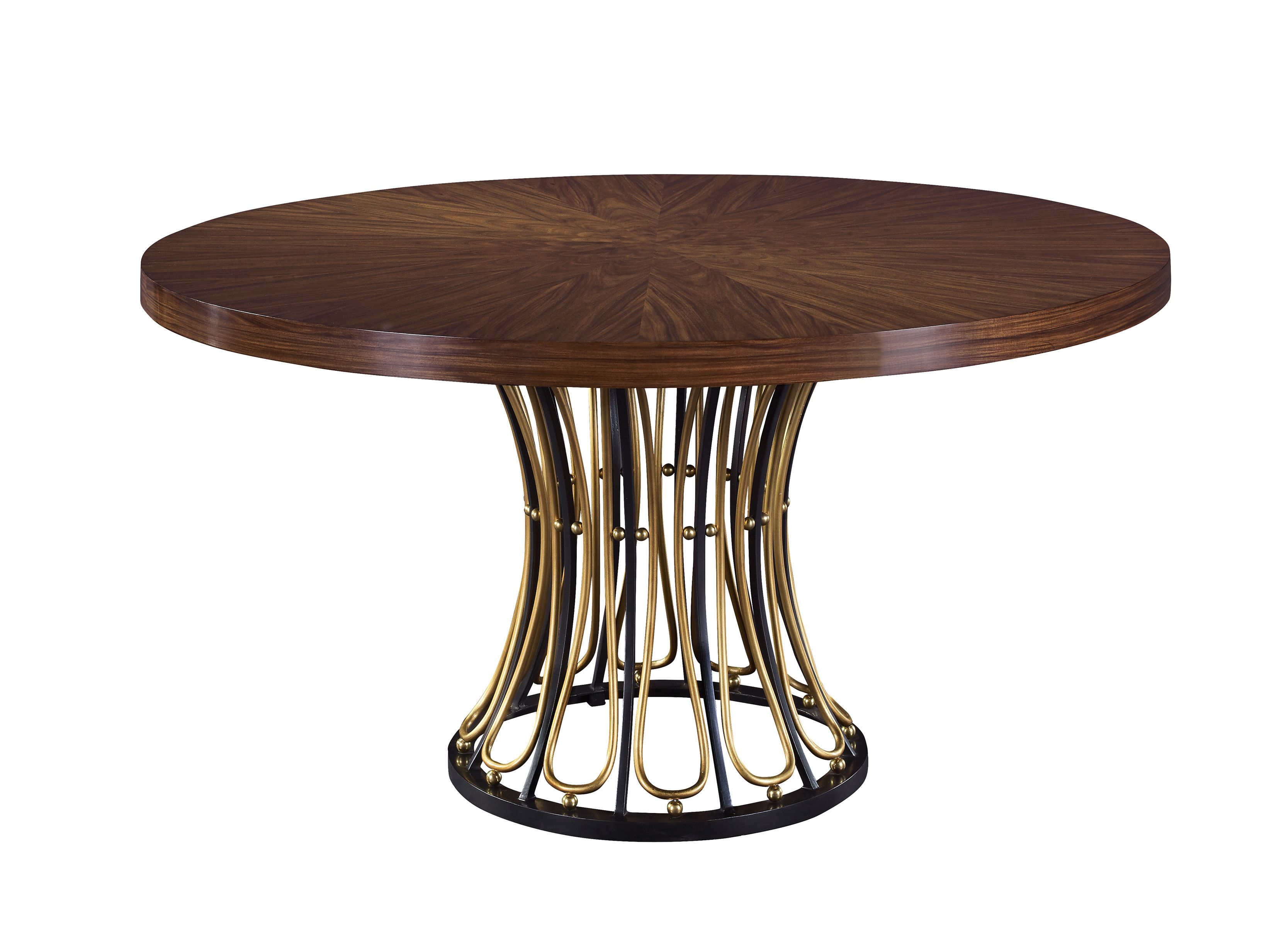 Yves Round Dining Table Top A Classic Wheat Inspired Pedestal Base Of Iron With Gilt Accents And A Rosewood T Dining Table Dining Table Top Henredon Furniture