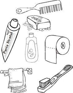 Habitos De Higiene Personal Para Completar Y Colorear