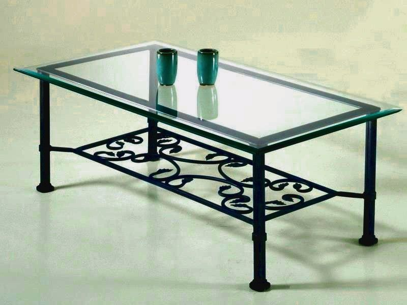 table basse fer forge verre ikea