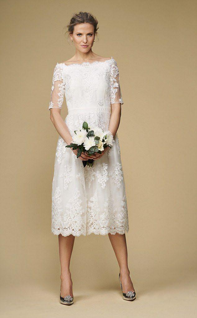 Lace Dress 150 Dorothy Perkins Com Shoes 140 Tedbaker Com All Flowers From Uk Older Bride Wedding Dress Casual Wedding Dress High Street Wedding Dresses