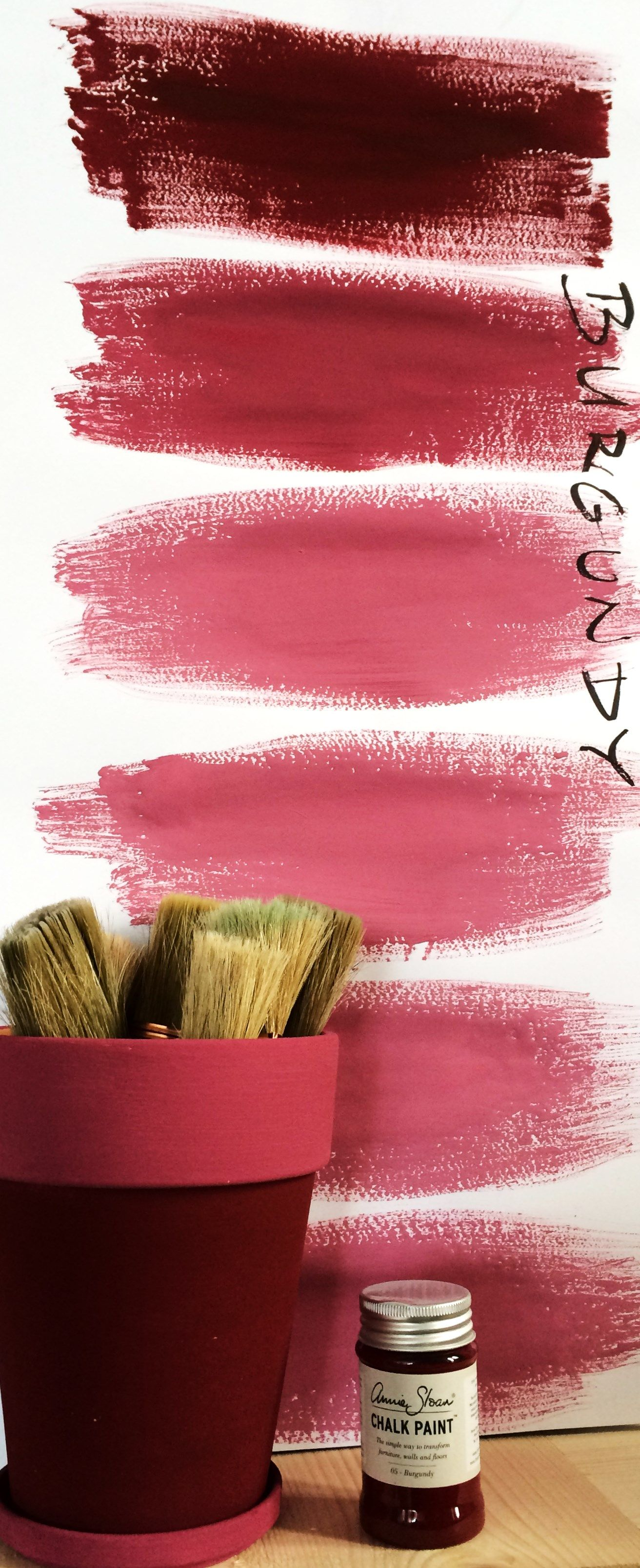 Almost Endless Color Shades Of Chalk Paint Burgundy Annie Sloan Colors Annie Sloan Paints Chalk Paint Colors