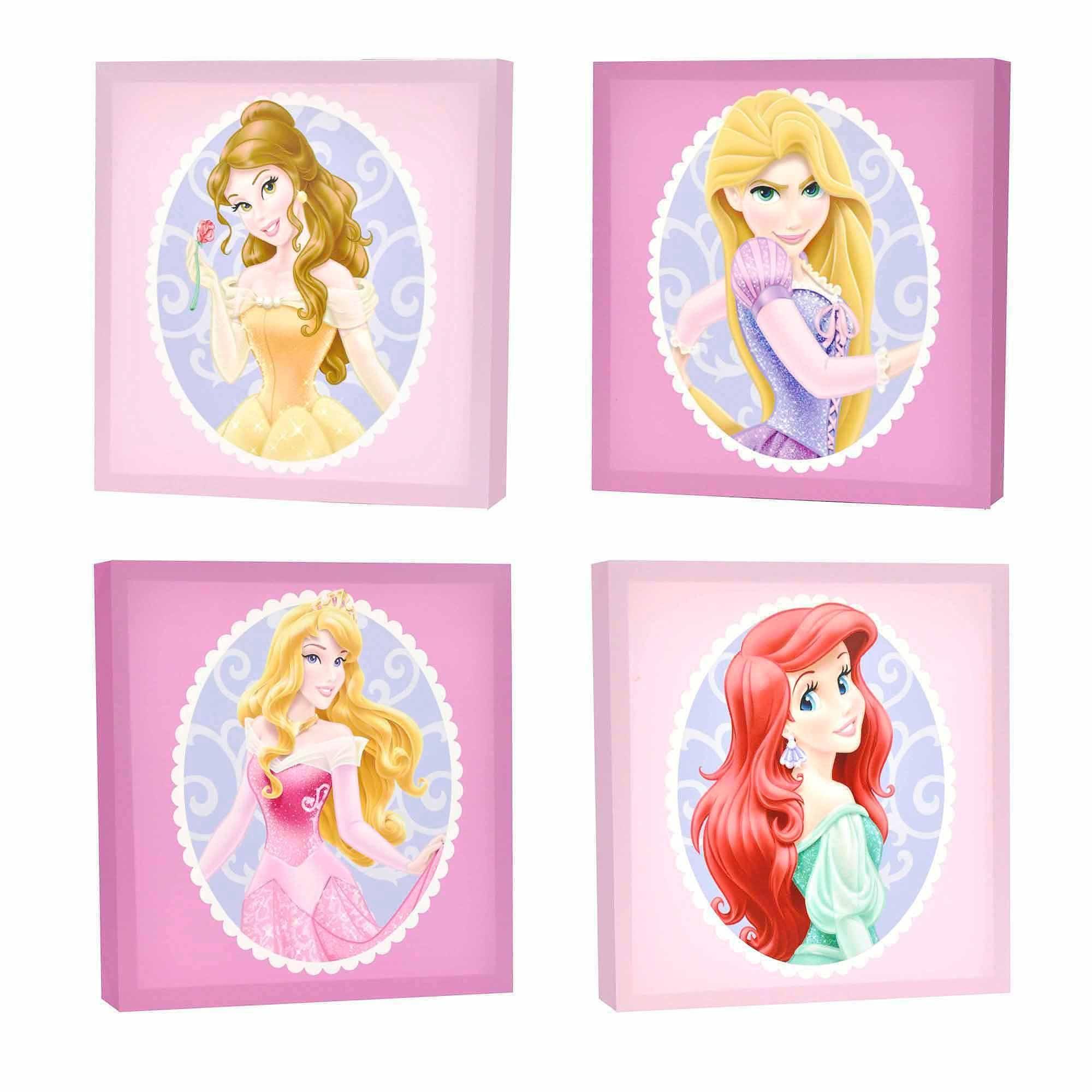 Disney Princess Canvas Wall Art 4 Pc Pack Walmart Com Princess Wall Art Disney Princess Wall Art Canvas Wall Art Set