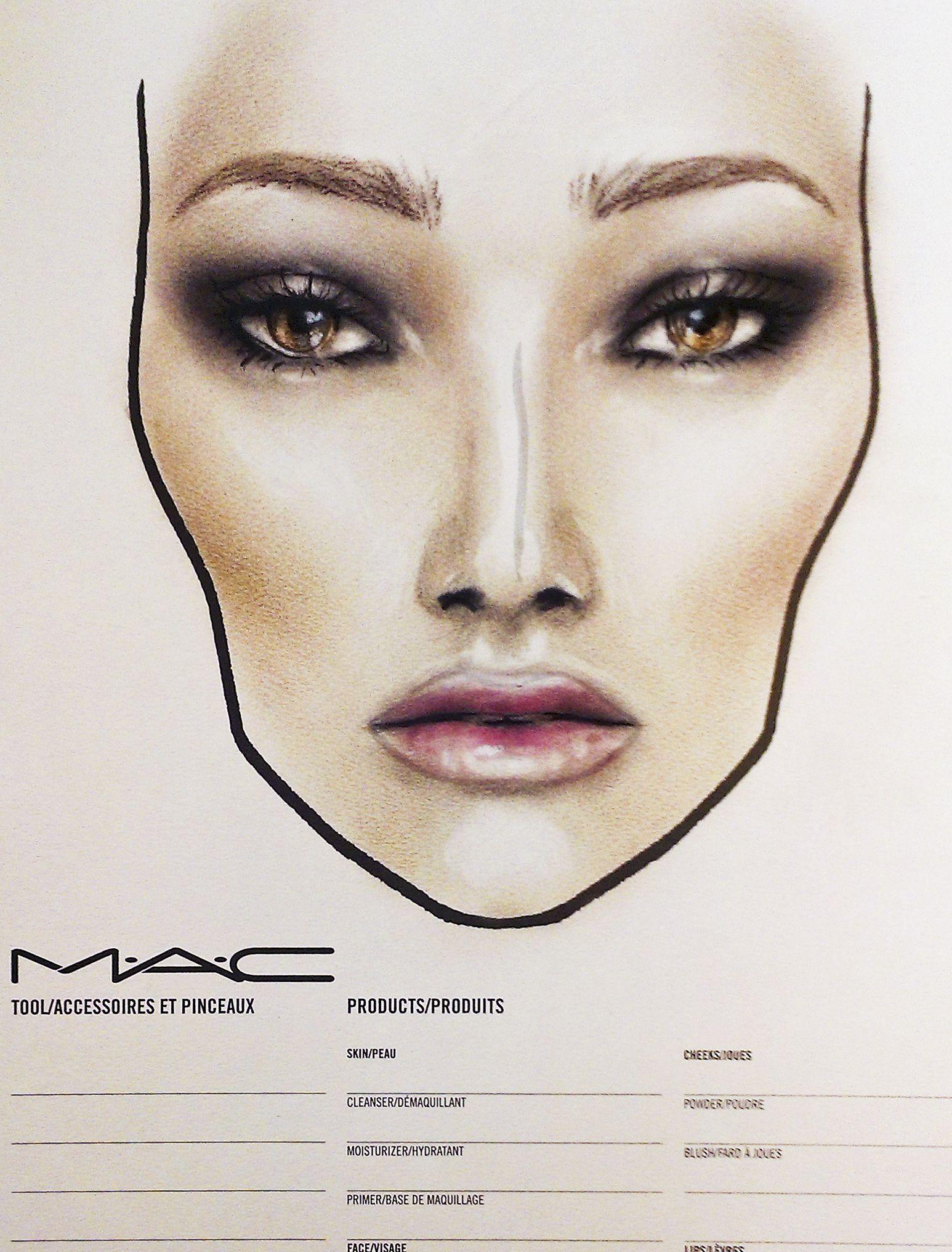 a novel romance mac face chart by amalia bot make up. Black Bedroom Furniture Sets. Home Design Ideas