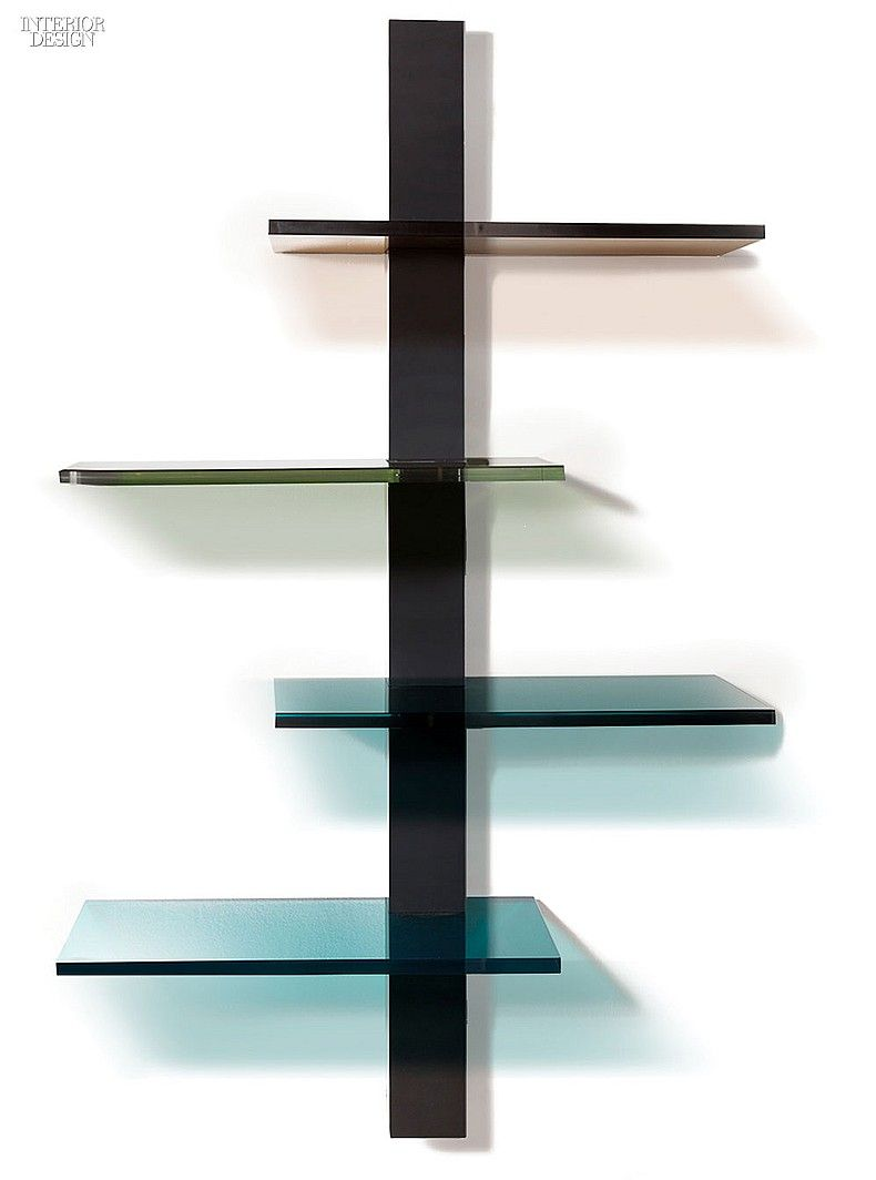 Editors picks 19 multifaceted accessories spinal etagere in oak and acrylic by b pila design design interiordesign interiordesignmagazine