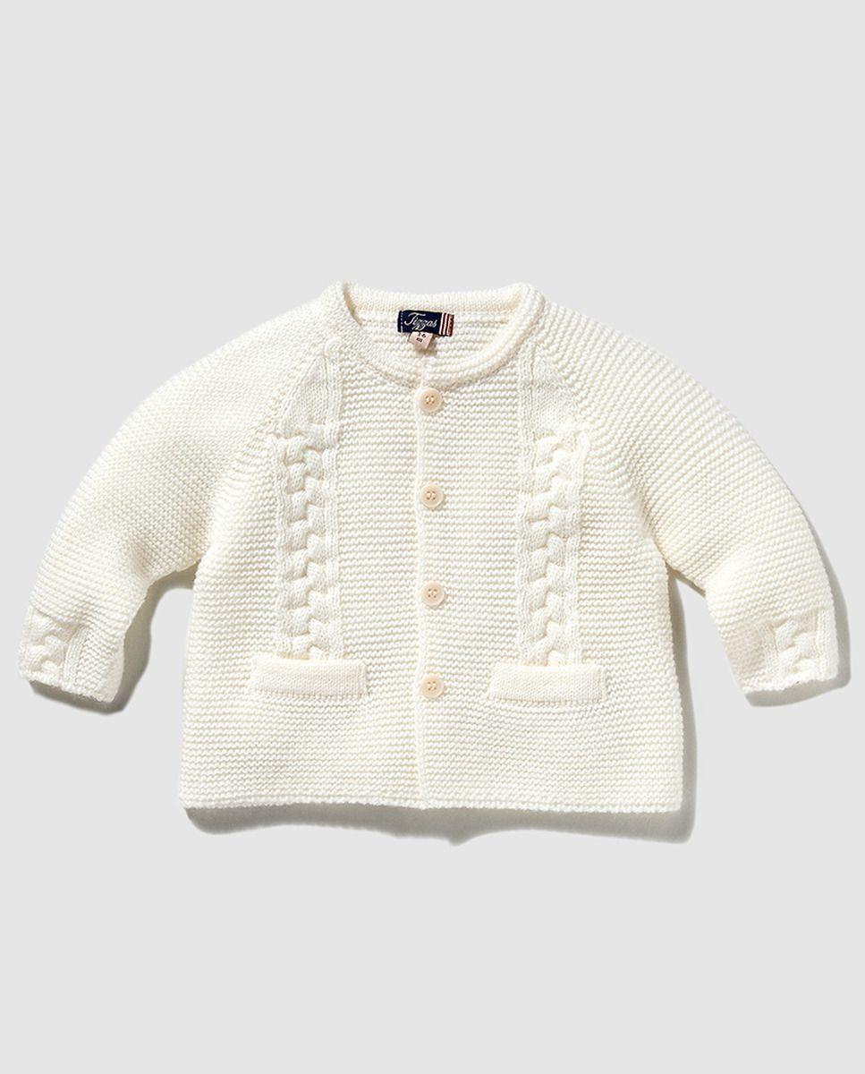 Niño For Quwxpst Bobo Blanco Punto Bebé Baby De Knitting 19 Chaqueta R0qdA0