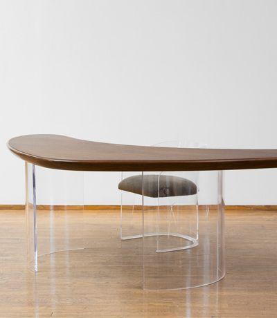 Vladimir Kagan  Wing Desk, Lotus Chair