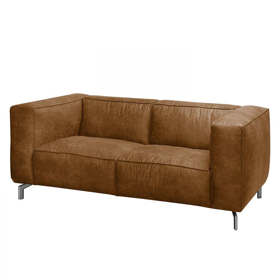 sofa pentre 2 sitzer antiklederlook kissen sofa sofa und sofas