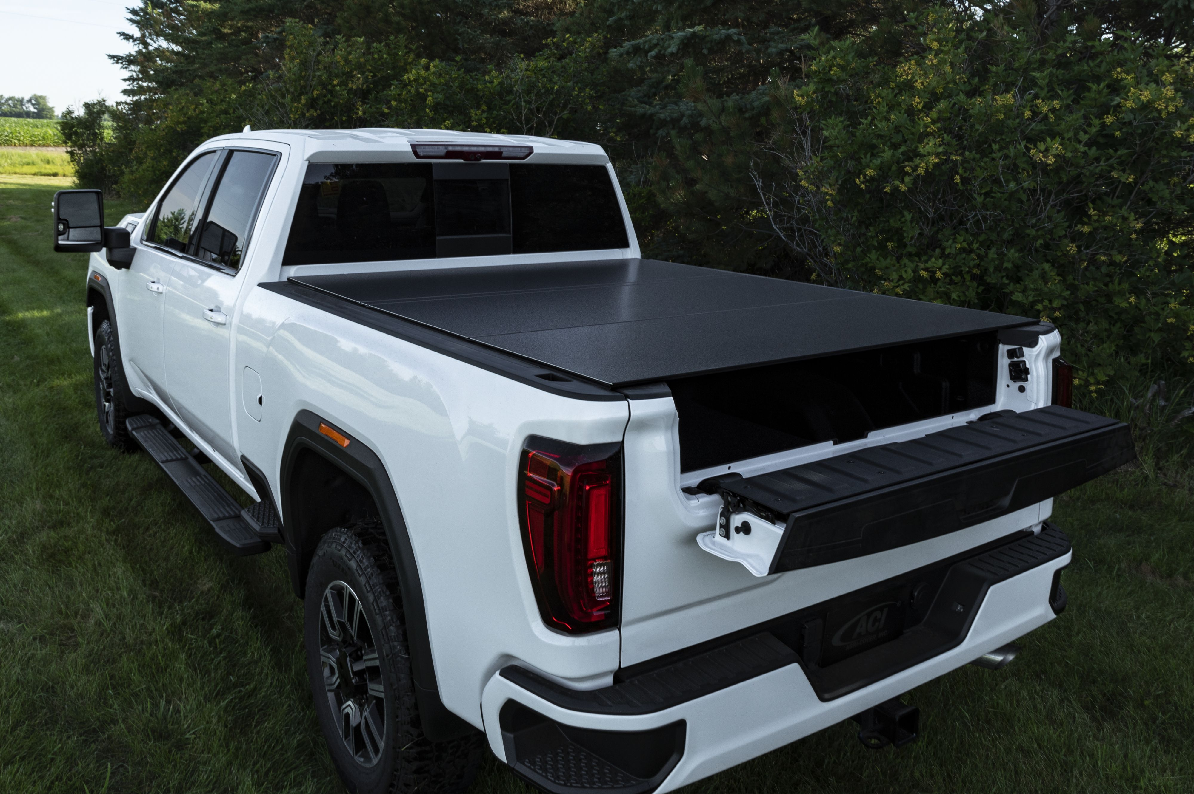 The Perfect Setup Lomax Hard Tri Fold Cover Tonneau Cover Truck Bed Covers Hard Tonneau Cover