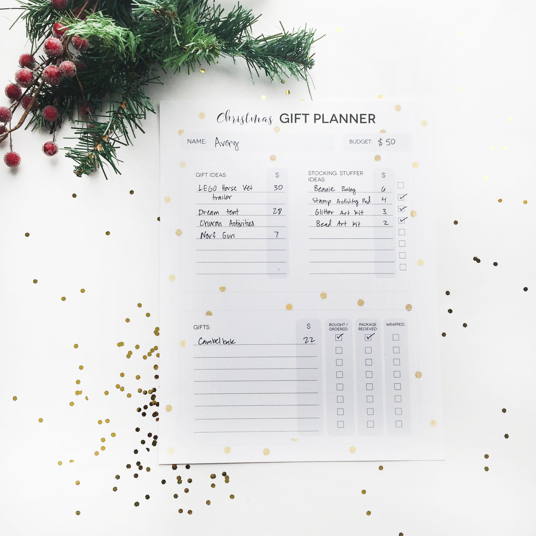 Christmas T Planner Sheets Free Printables
