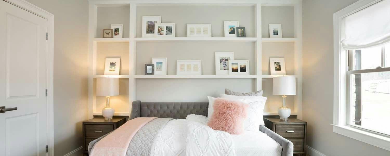 Ashton Woods: color scheme. Blush pink, light gray, white and dark ...