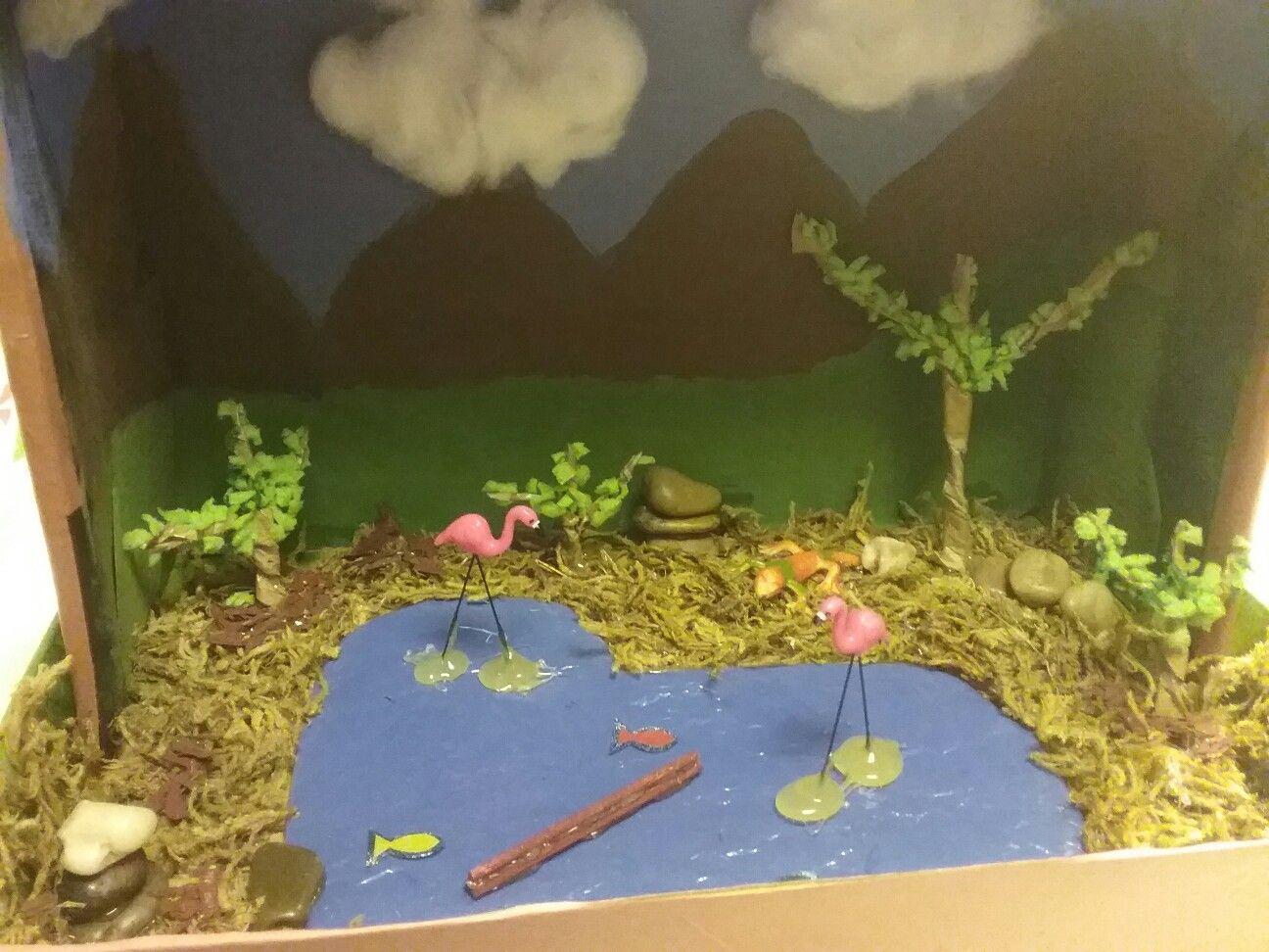 Flamingo Diorama