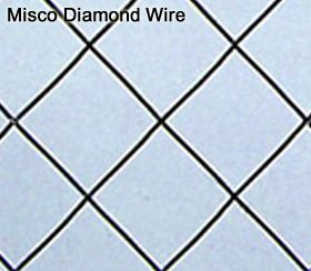 Misco Diamond Wire Glass Pattern Sample Wired Glass Glass Pattern