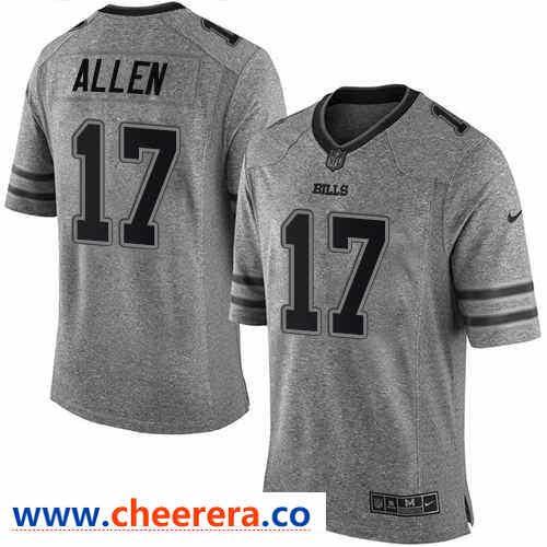 Nike Buffalo Bills  17 Josh Allen Gray Men s Stitched NFL Limited Gridiron  Gray Jersey 0da9ed27d