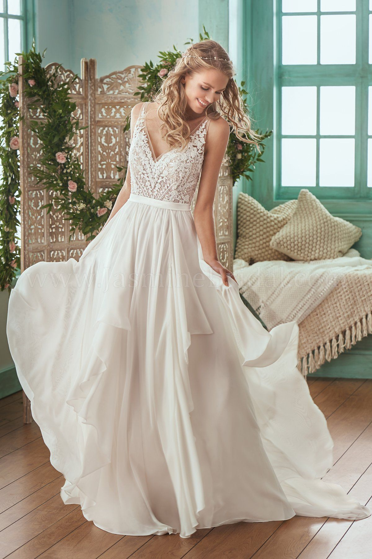Jasmine Bridal | Collection Style F201007 in Ivory/Vintage | Alencon ...