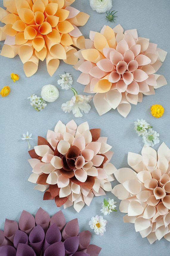Paper flower wedding ideas