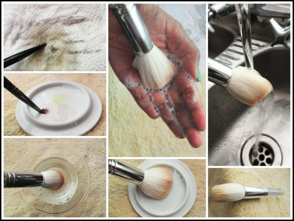 How to clean your make up brushes How to clean makeup