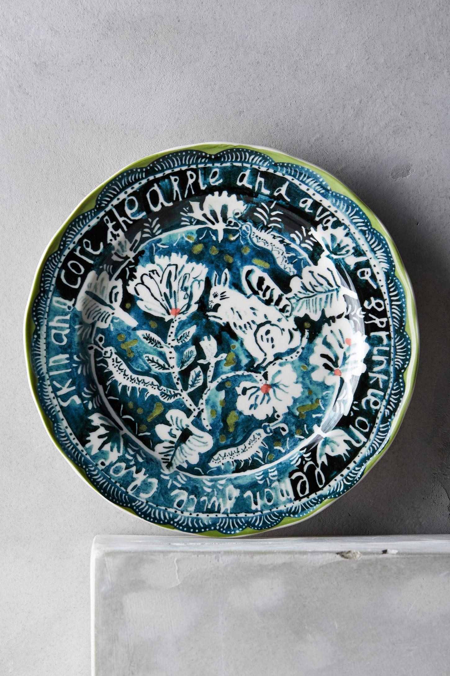 Woodland Picnic Dessert Plate - anthropologie.com