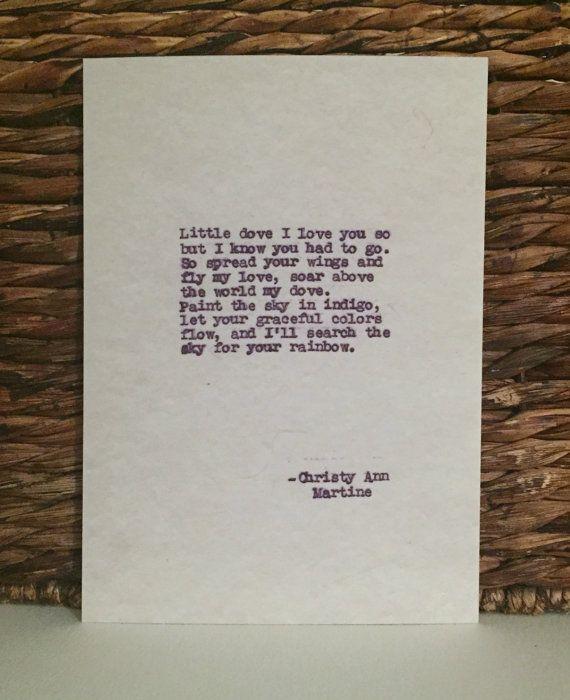 sympathy gifts poem print little dove sympathy poem